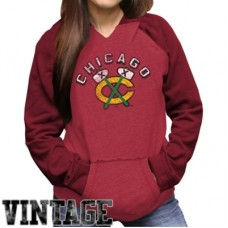 Chicago Blackhawks Dámska - Relaxed NHL Pulover s kapucňou