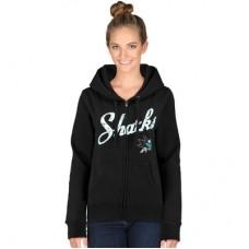 San Jose Sharks Dámska - Core Fleece Full Zip NHL Mikina s kapucňou