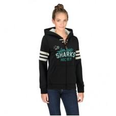 San Jose Sharks Dámska - CCM Full Zip NHL Mikina s kapucňou