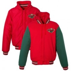 Minnesota Wild - Obojstranná Fleece/Nylon NHL Bunda
