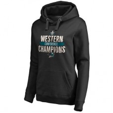 San Jose Sharks Dámska - 2016 Western Conference Champions Breakaway NHL Mikina s kapucňou