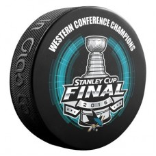 San Jose Sharks - Sher-Wood 2016 Western Conference Champions NHL Puk
