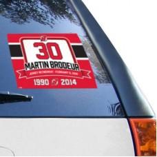 New Jersey Devils - Martin Brodeur WinCraft Retirement NHL Nálepka