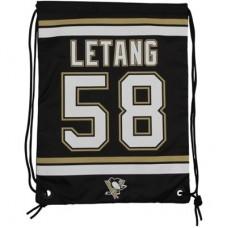 Pittsburgh Penguins - Kris Letang Drawstring NHL Vrecko