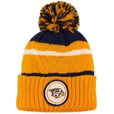 Nashville Predators - Quilted Crown Jersey Stripe Hi-Five NHL Knit Zimná čiapka