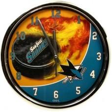 San Jose Sharks - Flame Chrome NHL Hodiny