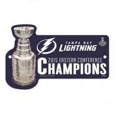 Tampa Bay Lightning - 2015 Eastern Conference Champions NHL Plastová tabuľa