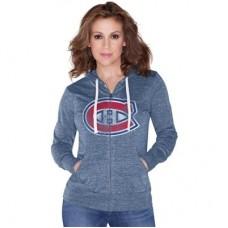Montreal Canadiens Dámska - Nubby Tri-Blend Lightweight NHL Mikina s kapucňou