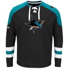 San Jose Sharks - Centre Lace-Up NHL Tričko s dlhým rukávom