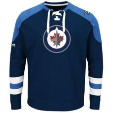 Winnipeg Jets - Centre Lace-Up NHL Tričko s dlhým rukávom