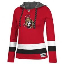 Ottawa Senators Dámska - Jersey Pullover NHL Mikina s kapucňou