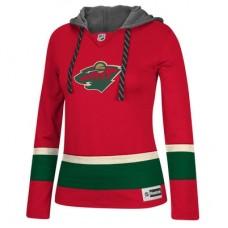 Minnesota Wild Dámska - Jersey Pullover NHL Mikina s kapucňou