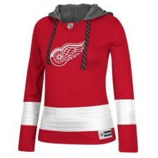 Detroit Red Wings Dámska - Jersey Pullover NHL Mikina s kapucňou
