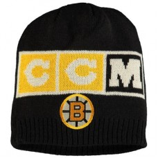 Boston Bruins - CCM Solid Beanie NHL Knit Zimná čiapka