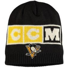 Pittsburgh Penguins - CCM Solid Beanie NHL Knit Zimná čiapka