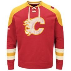 Calgary Flames - Vintage Centre Lace-Up NHL Tričko s dlhým rukávom