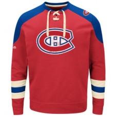 Montreal Canadiens - Vintage Centre Lace-Up NHL Tričko s dlhým rukávom