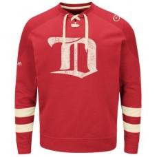 Detroit Red Wings - Vintage Centre Lace-Up NHL Tričko s dlhým rukávom
