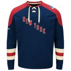 New York Rangers - Vintage Centre Lace-Up NHL Tričko s dlhým rukávom