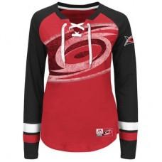 Carolina Hurricanes Dámske - Vintage Hip Check Lacer NHL Tričko s dlhým rukávom