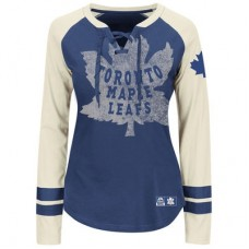 Toronto Maple Leafs Dámske - Vintage Hip Check Lacer NHL Tričko s dlhým rukávom