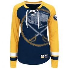 Buffalo Sabres Dámske - Vintage Hip Check Lacer NHL Tričko s dlhým rukávom