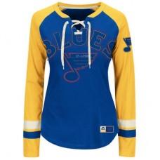 St. Louis Blues Dámske - Vintage Hip Check Lacer NHL Tričko s dlhým rukávom