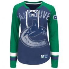 Vancouver Canucks Dámske - Vintage Hip Check Lacer NHL Tričko s dlhým rukávom