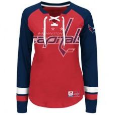 Washington Capitals Dámske - Vintage Hip Check Lacer NHL Tričko s dlhým rukávom