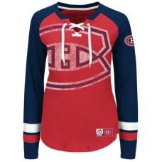 Montreal Canadiens Dámske - Vintage Hip Check Lacer NHL Tričko s dlhým rukávom