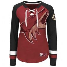 Arizona Coyotes Dámske - Vintage Hip Check Lacer NHL Tričko s dlhým rukávom
