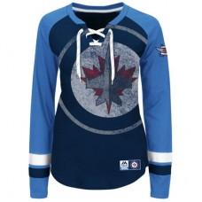 Winnipeg Jets Dámske - Vintage Hip Check Lacer NHL Tričko s dlhým rukávom