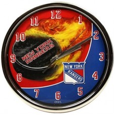 New York Rangers - Flame Chrome NHL Hodiny