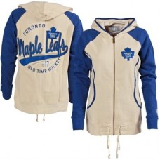 Toronto Maple Leafs Dámska - Old Time Hockey NHL Mikina s kapucňou