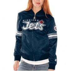 Winnipeg Jets dámska - Starter Blitz Satin NHL Bunda