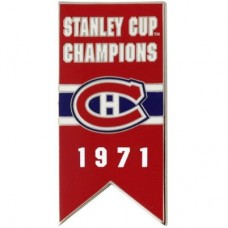 Montreal Canadiens - 1971 Stanley Cup Champs NHL Odznak