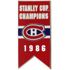 Montreal Canadiens - 1986 Stanley Cup Champs NHL Odznak