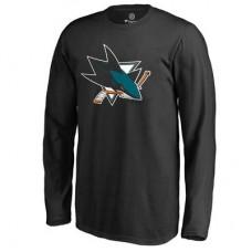 San Jose Sharks Detské - Primary Logo NHL Tričko s dlhým rukávom