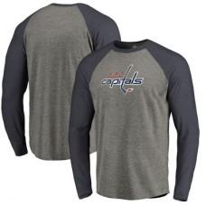 Washington Capitals - Distressed Team Tri-Blend Raglan NHL Tričko s dlhým rukávom
