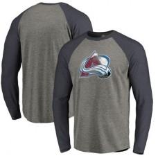 Colorado Avalanche - Distressed Team Tri-Blend Raglan NHL Tričko s dlhým rukávom