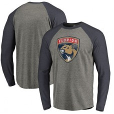 Florida Panthers - Distressed Team Tri-Blend Raglan NHL Tričko s dlhým rukávom