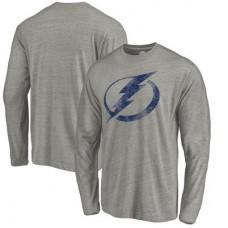 Tampa Bay Lightning - Distressed Team Tri-Blend NHL Tričko s dlhým rukávom