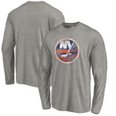 New York Islanders - Distressed Team Tri-Blend NHL Tričko s dlhým rukávom