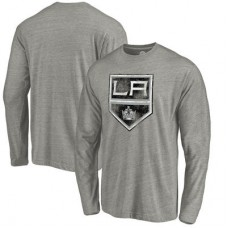 Los Angeles Kings - Distressed Team Tri-Blend NHL Tričko s dlhým rukávom