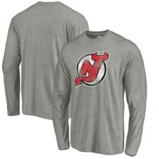 New Jersey Devils - Distressed Team Tri-Blend NHL Tričko s dlhým rukávom