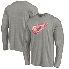 Detroit Red Wings - Distressed Team Tri-Blend NHL Tričko s dlhým rukávom