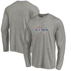 Washington Capitals - Distressed Team Tri-Blend NHL Tričko s dlhým rukávom