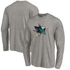 San Jose Sharks - Distressed Team Tri-Blend NHL Tričko s dlhým rukávom