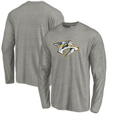 Nashville Predators - Distressed Team Tri-Blend NHL Tričko s dlhým rukávom