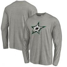 Dallas Stars - Distressed Team Tri-Blend NHL Tričko s dlhým rukávom
